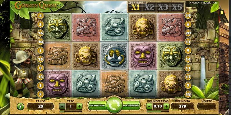 qonzos-quest-voittoluokat-panostasot-bonuspelit-palautusprosentti